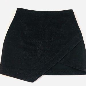 TopShop Black Shimmer Envelope Skirt